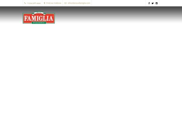Screenshot of www.famousfamiglia.com