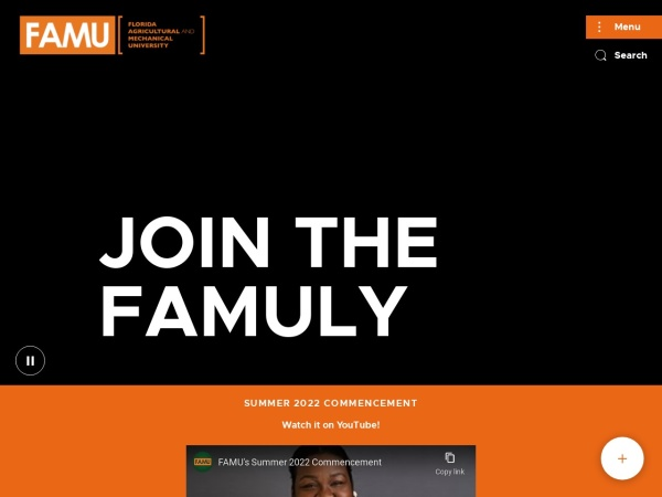 Screenshot of www.famu.edu