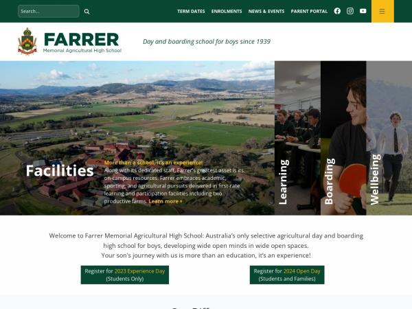 Screenshot of www.farreragri-h.schools.nsw.edu.au
