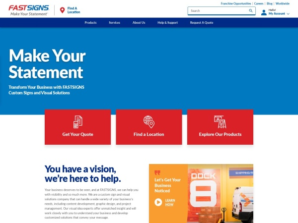 Screenshot of www.fastsigns.com