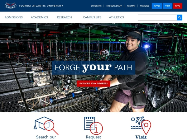 Screenshot of www.fau.edu