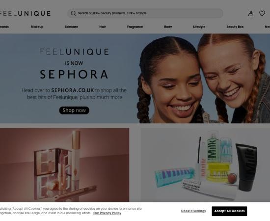 Screenshot of www.feelunique.com