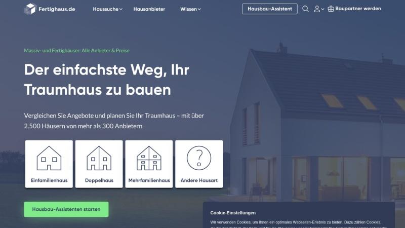 Screenshot of www.fertighaus.de
