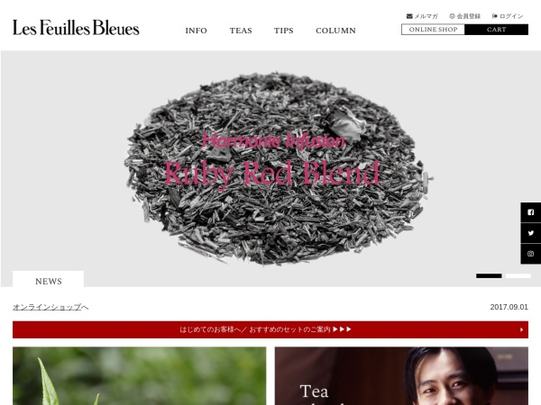 Screenshot of www.feuillesbleues.com
