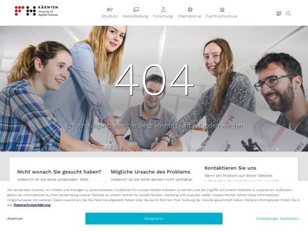 Screenshot of www.fh-kaernten.at