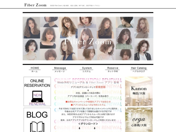 Screenshot of www.fiberzoom.co.jp