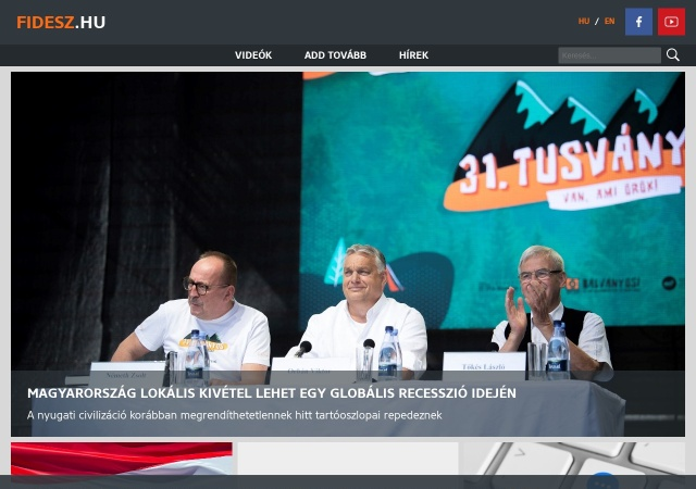 Screenshot of www.fidesz.hu