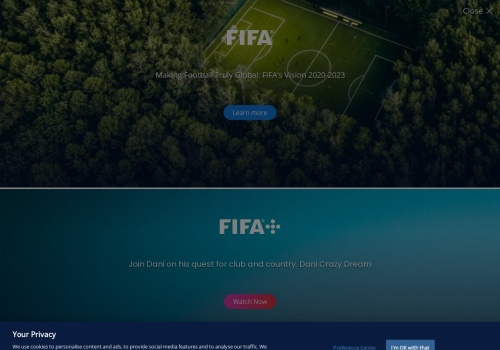 Screenshot of www.fifa.com