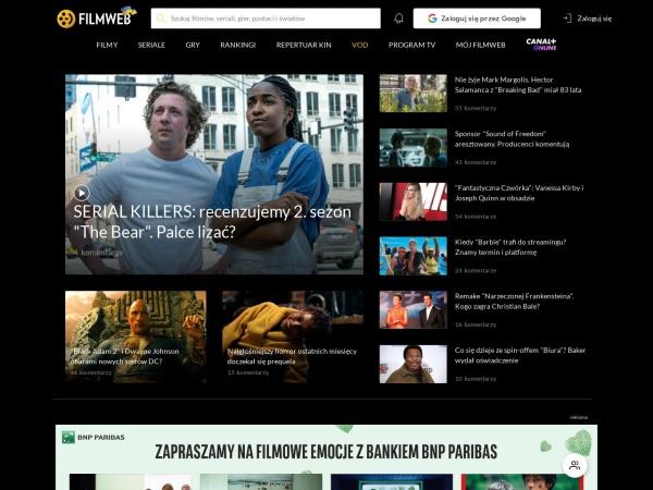 Screenshot of www.filmweb.pl