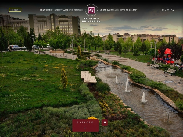 Screenshot of www.firat.edu.tr