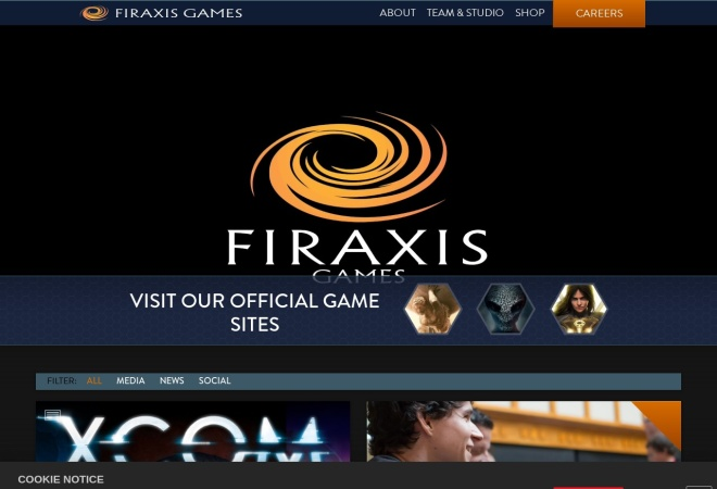 Screenshot of www.firaxis.com