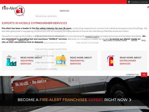 Screenshot of www.fire-alert.ca