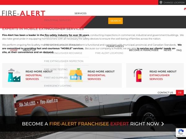 Screenshot of www.fire-alert.ca