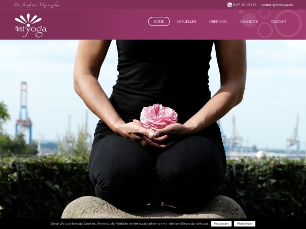 Screenshot von www.firstyoga.de