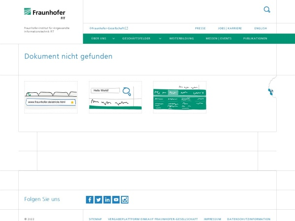 Screenshot of www.fit.fraunhofer.de