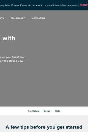 Screenshot of www.fitbit.com