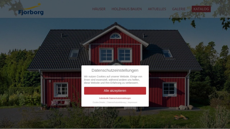 Screenshot of www.fjorborg-haus.de