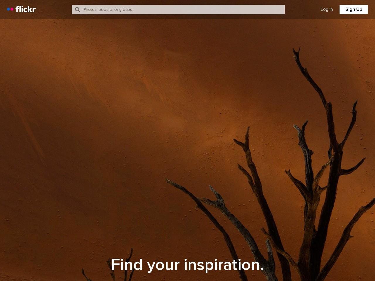 Screenshot of www.flickr.com
