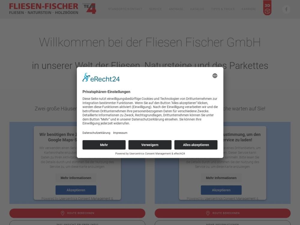 Screenshot of www.fliesen-fischer.com