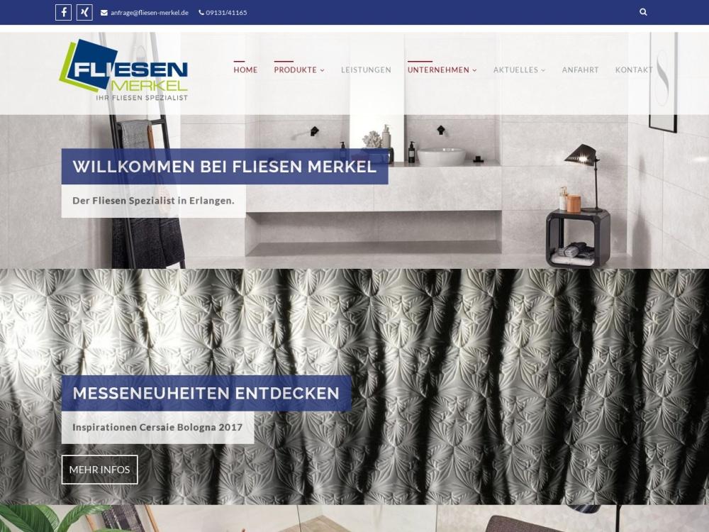 Screenshot of www.fliesen-merkel.de