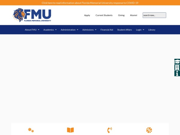 Screenshot of www.fmuniv.edu