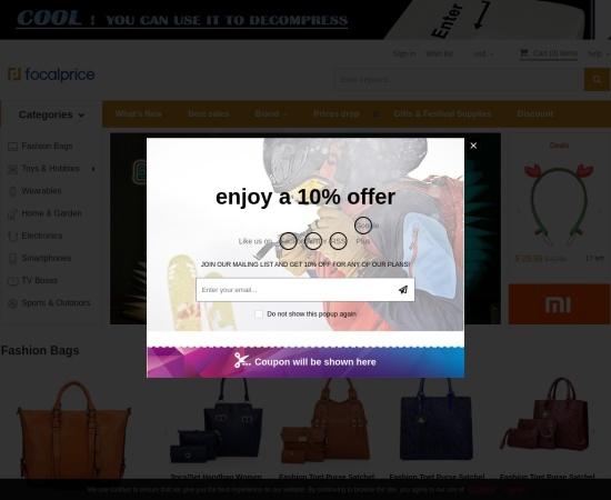 Screenshot of www.focalprice.com
