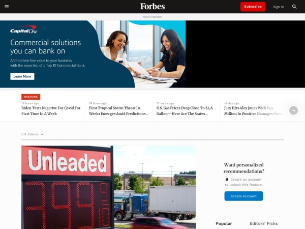 Screenshot of www.forbes.com