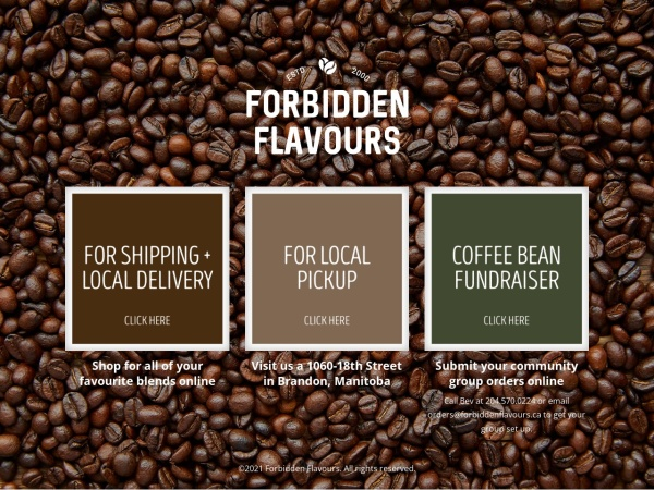Screenshot of www.forbiddenflavours.ca