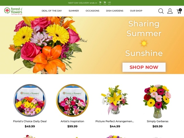 Screenshot of www.forestofflowers.com