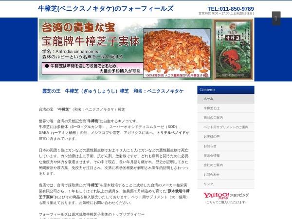 Screenshot of www.fourfields.jp