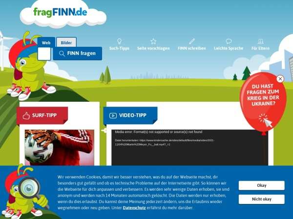 Suchmaschine FragFinn.de