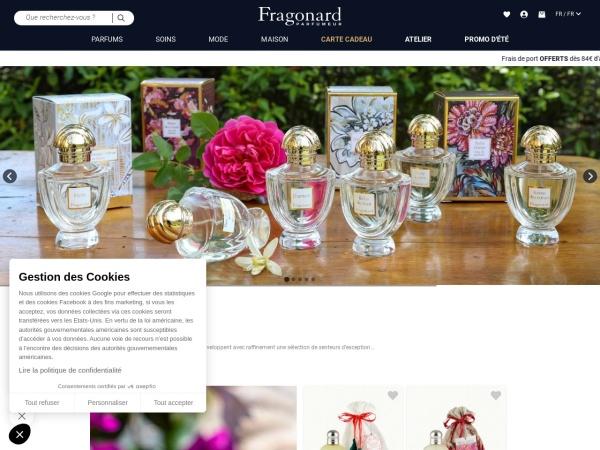Screenshot of www.fragonard.com