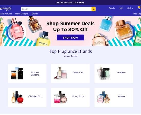 Screenshot of www.fragrancex.com
