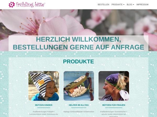 Screenshot von www.fruehlingbitte.de