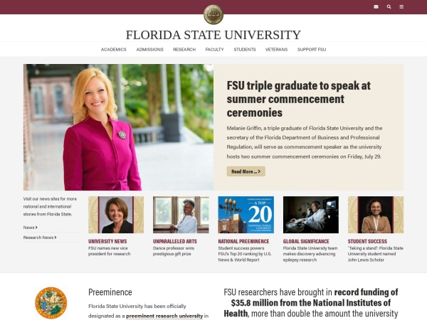 Screenshot of www.fsu.edu