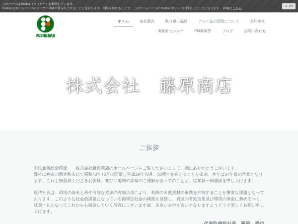 Screenshot of www.fujiwarashouten.com
