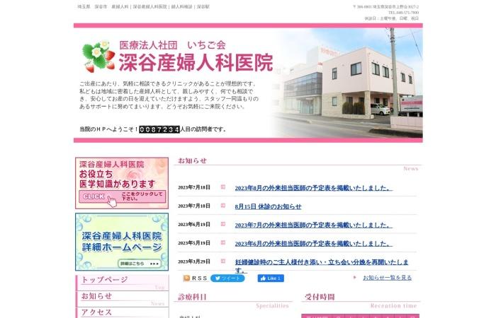 Screenshot of www.fukayaladiesclinic.com
