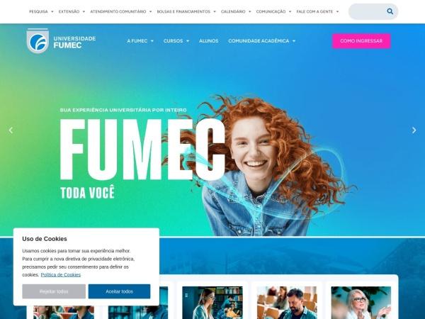 Screenshot of www.fumec.br