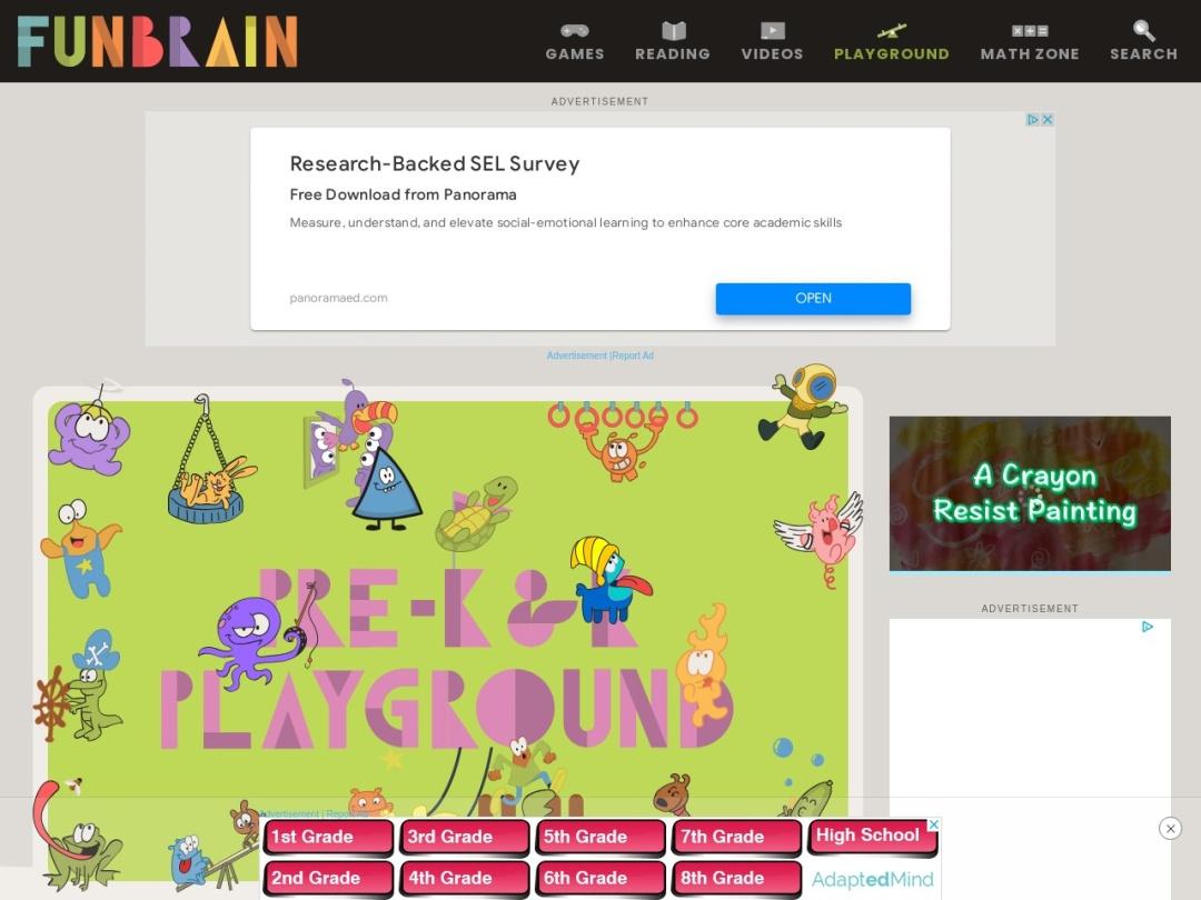 http://www.funbrain.com/kidscenter.html