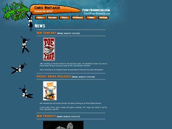 Screenshot of www.funkybunnies3d.com