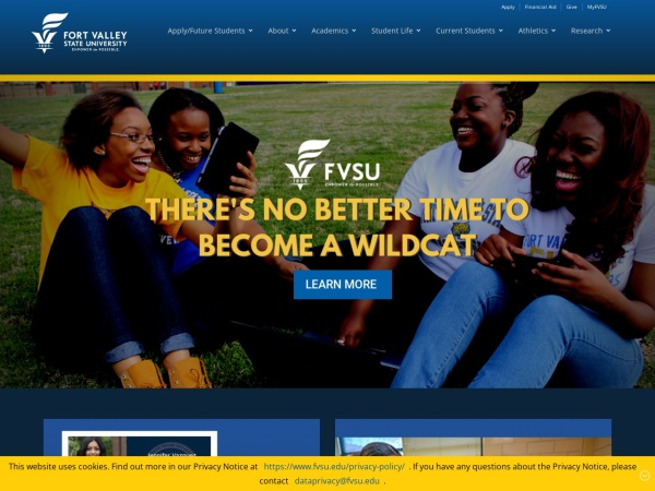 Screenshot of www.fvsu.edu
