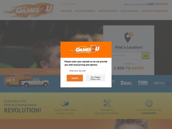 Screenshot of www.g2u.com