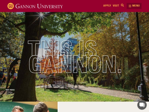 Screenshot of www.gannon.edu