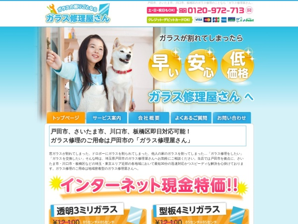 Screenshot of www.garasusyuuriyasan.com