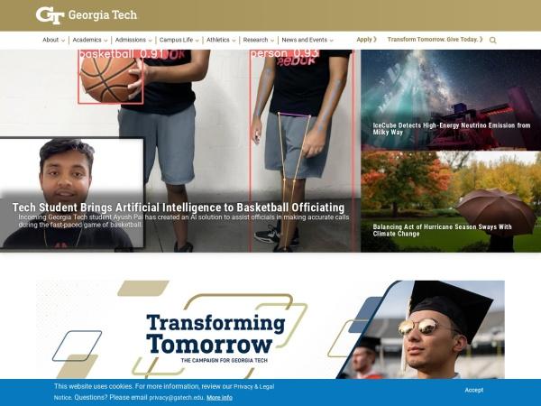 Screenshot of www.gatech.edu