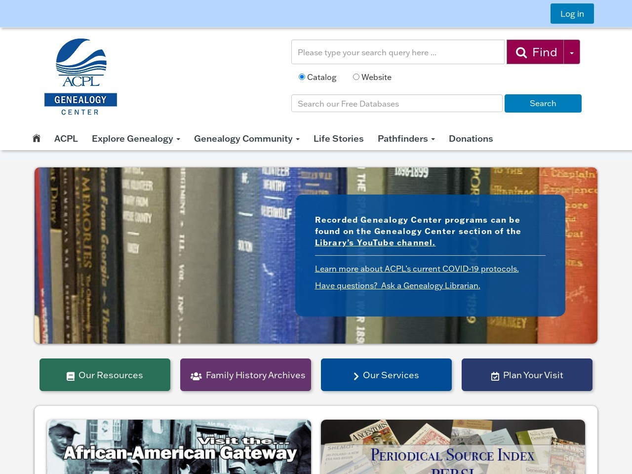 genealogycenter.org