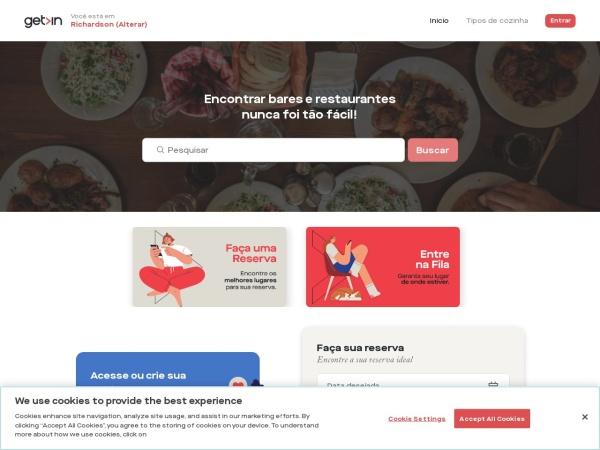 Screenshot of www.getinapp.com.br