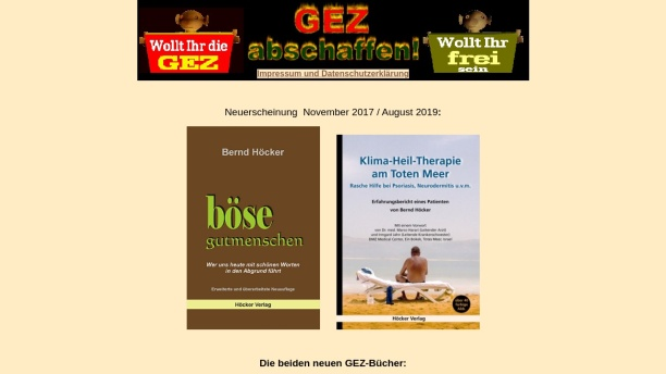 Screenshot of www.gez-abschaffen.de