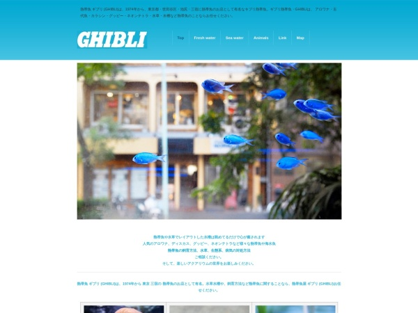 Screenshot of www.ghibli-jp.com