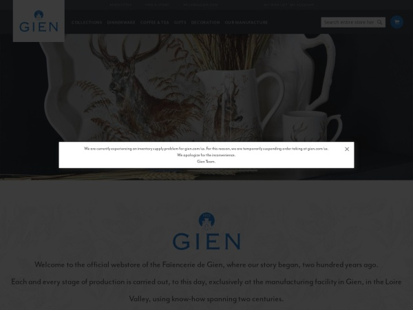Screenshot of www.gien.com